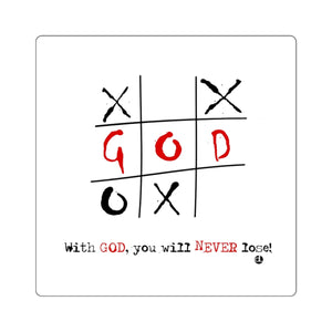 Tic-Tac-Toe Inspirational: Square Stickers