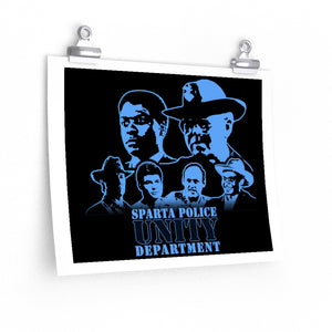 """Unity"" Sparta Police Department: Matte horizontal posters"