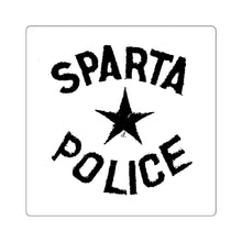 Load image into Gallery viewer, Vintage Sparta Police: Square Stickers