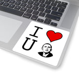 We love you Obama: Square Stickers