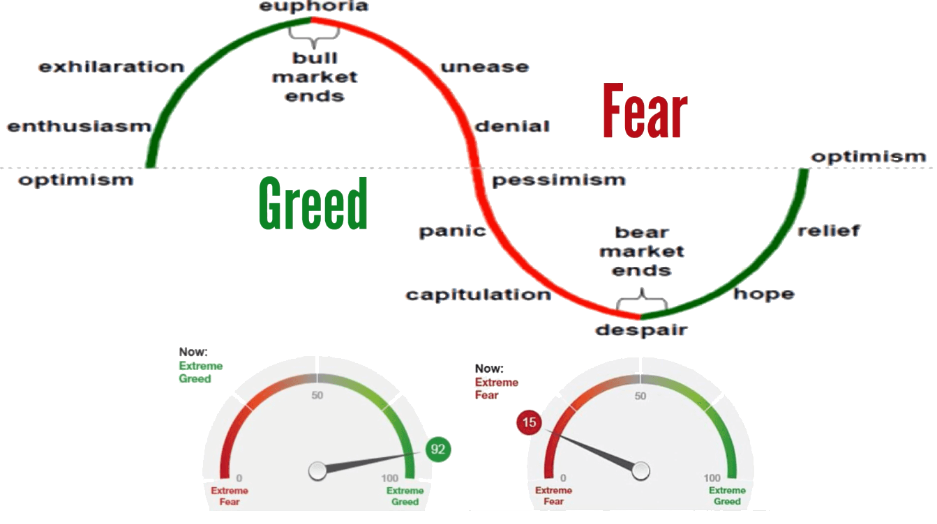 emotional trading is trading with market participants' fear and greed