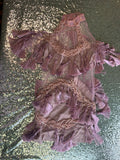Purple Fringe Dress (L)