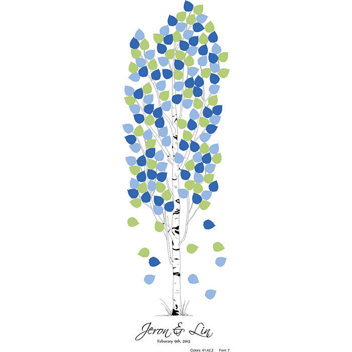 Personalized Wedding Tree Guest Book - Aspen
