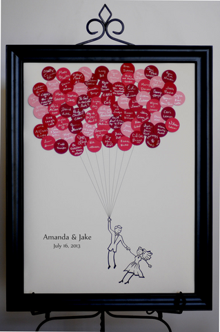Wedding Balloons Guest Book House Up