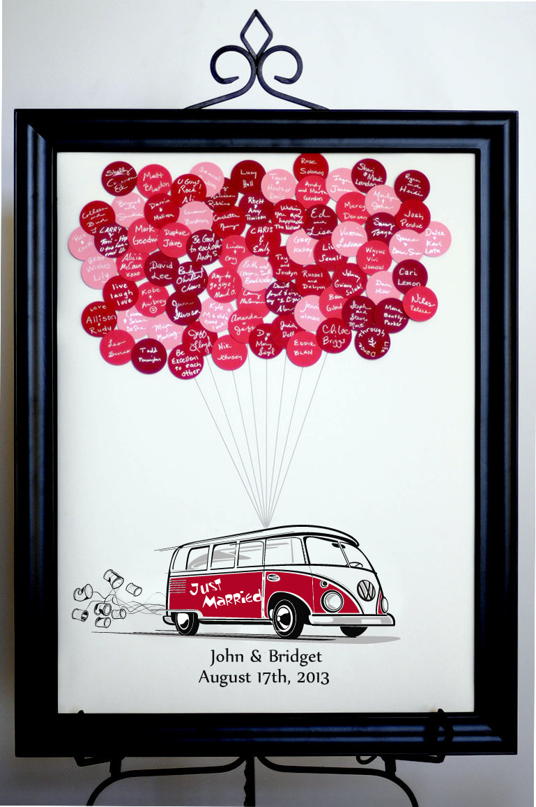 Wedding Balloons Guest Book VW Bus