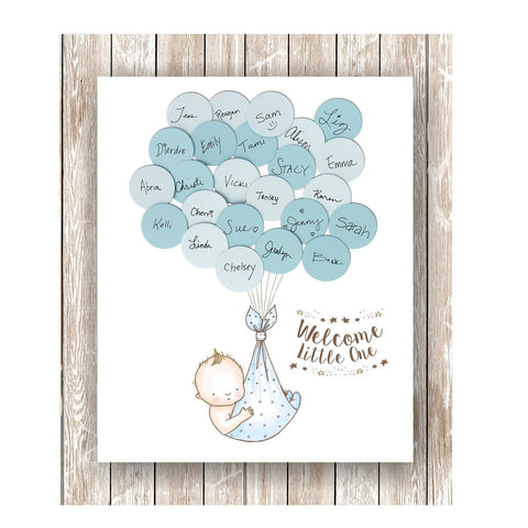 Bunny Theme Baby Shower Guest Book Print Girl