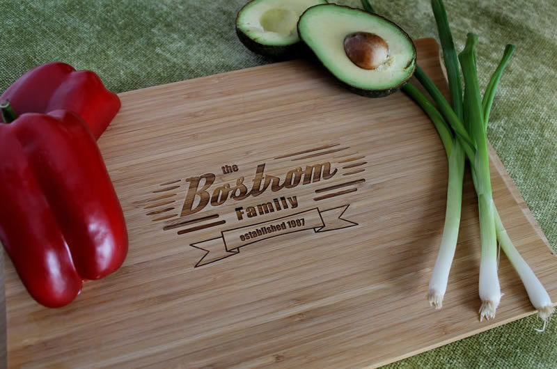 Personalized Cutting Board - Bostrom