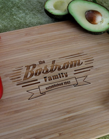 Washington Personalized Engraved Cutting Board