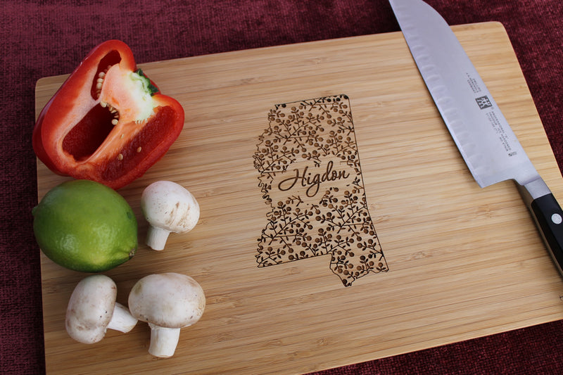 Mississippi Personalized Engraved Cutting Board