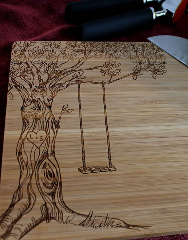 Engraved Cutting Board - Tree of Life