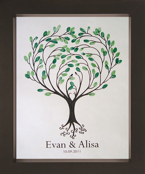 Fingerprint Guest Book Tree Heartsong