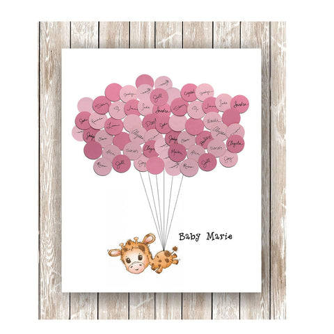 Lamb Theme Baby Shower Guest Book Print Boy or Girl