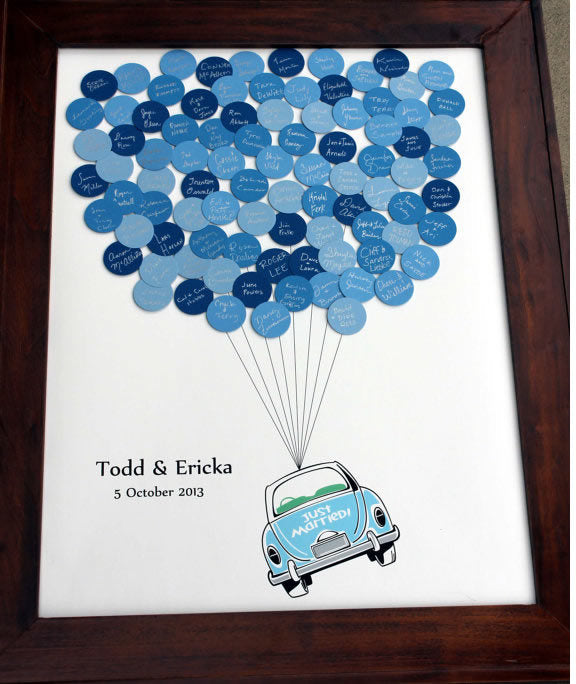Wedding Balloons Guest Book Just Married Car