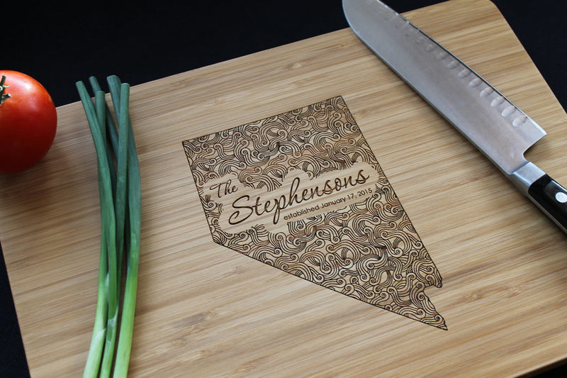 Nevada Personalized Engraved Cutting Board