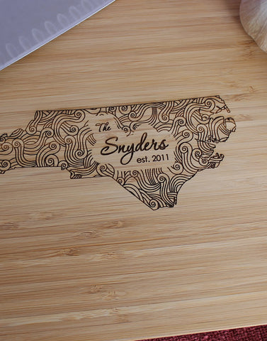 Georgia Personalized Engraved Cutting Board