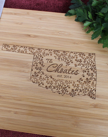 North Carolina Personalized Engraved Cutting Board