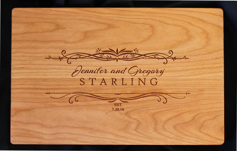 Engraved Cutting Board - Starling