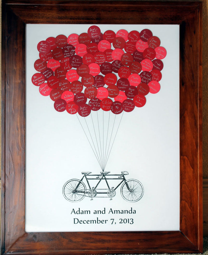 Wedding Balloons Guest Book Bicycle