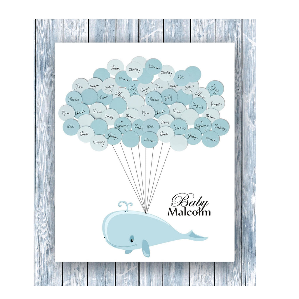 Whale Theme Baby Shower Print