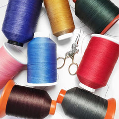 heavy duty nylon thread in various colors