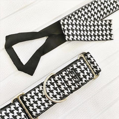 Classic Hound dog collar with webbing core exposed