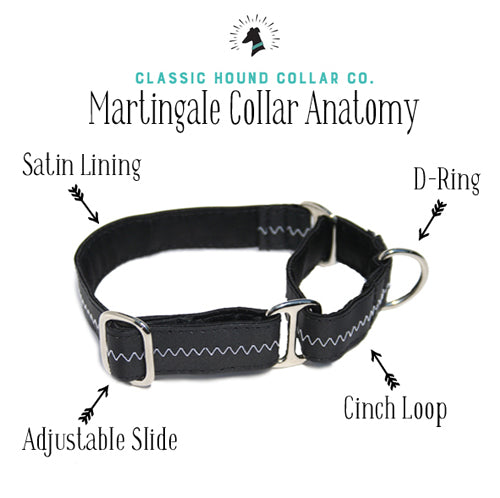 Martingale Collar Anatomy | Classic Hound Collar Co.