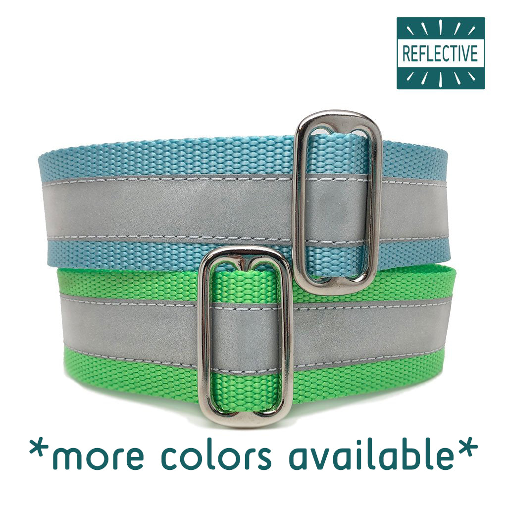 "1.5"" Unlined Reflective Buckle or Martingale"