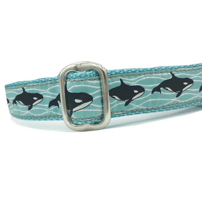 "1"" Satin-Lined Orcas Tag Collar"