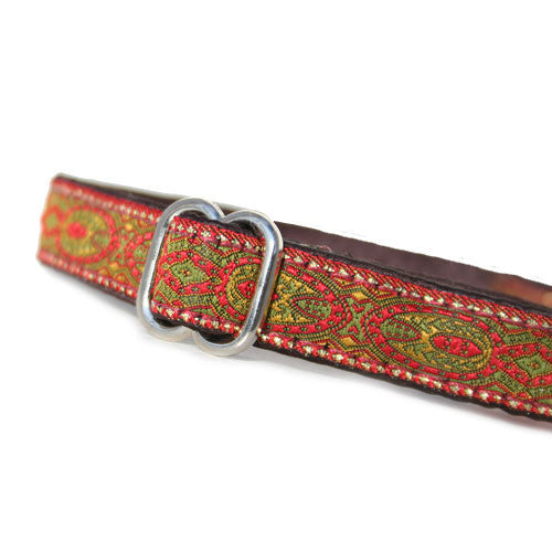 "5/8"" Monarchy Red Buckle Collar"