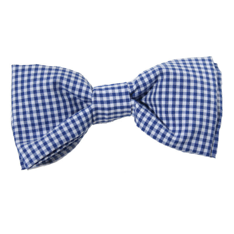 Dog Bow Tie Gingham Navy | Classic Hound Collar Co.