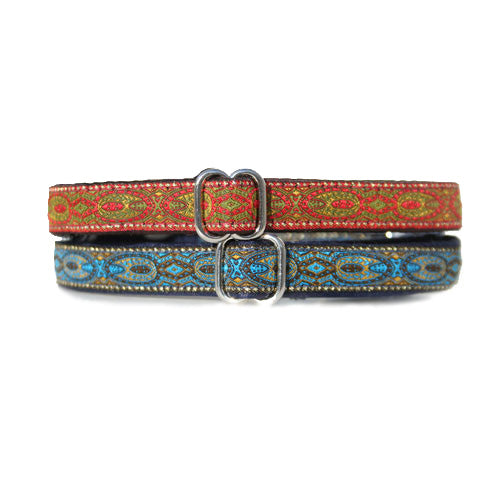"5/8"" Satin-Lined Monarchy Tag Collar"