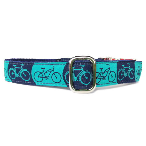 "1"" Satin-Lined Bicycles Tag Collar"
