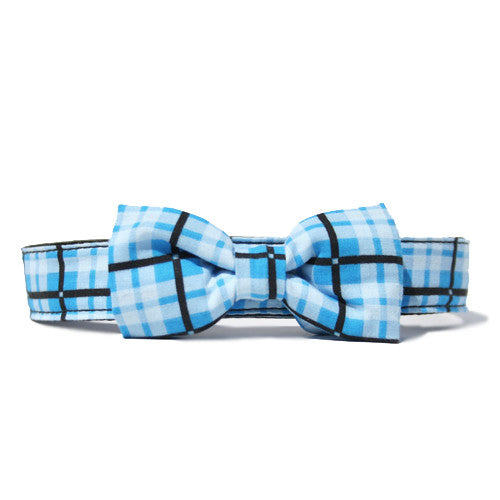 Collar Bow Tie Set - Plaid Chill Out