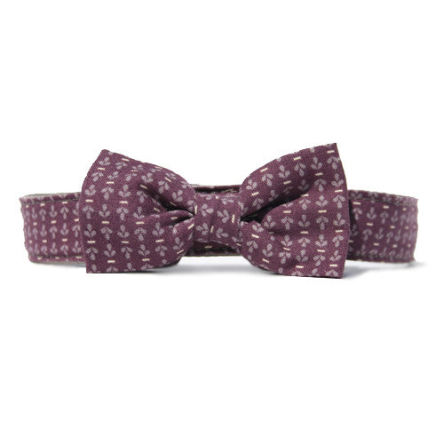 Collar Bow Tie Set - Gentleman's Maroon