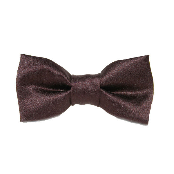Dog Bow Tie Satin Brown | Classic Hound Collar Co.