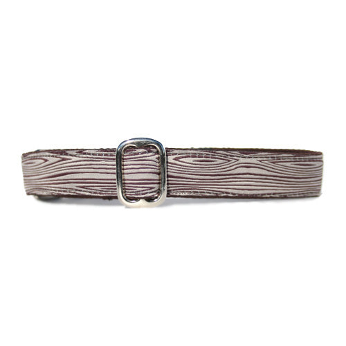 "1"" Satin-Lined Woodgrain Tag Collar"