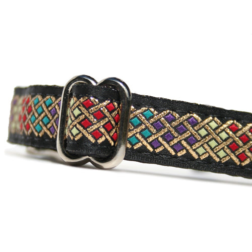 "5/8"" Satin-Lined Bejeweled Tag Collar"