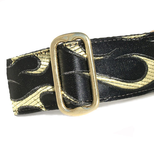 Brocade Flames Buckle Collar