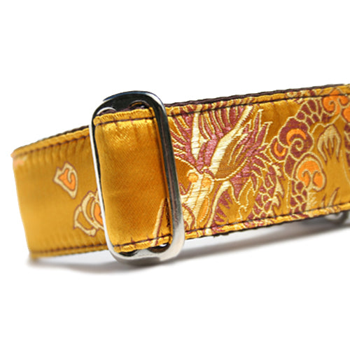 Brocade Golden Dragon Buckle Collar