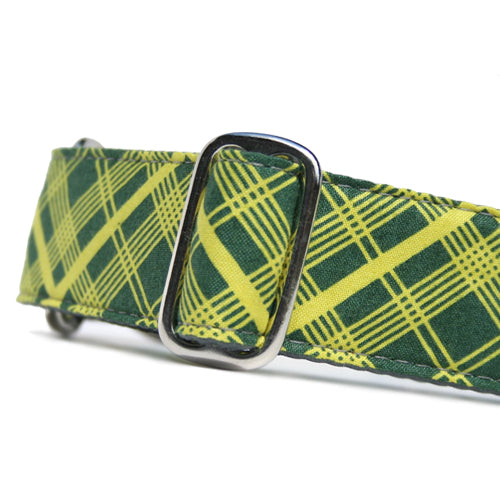 Classic Hound Collar Co. | Jolly Green Tartan Buckle Collar