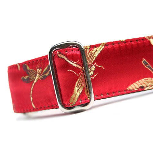 Classic Hound Collar Co. | Lucky Dragonfly Brocade Buckle Collar