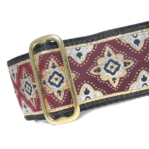 "2"" Morocco Burgundy Buckle"