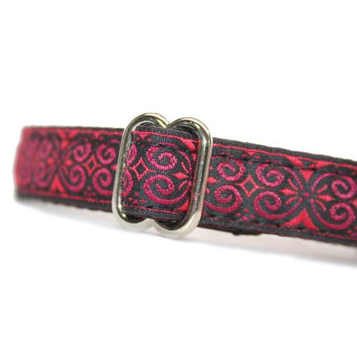 "5/8"" Satin-Lined Romance Tag Collar"