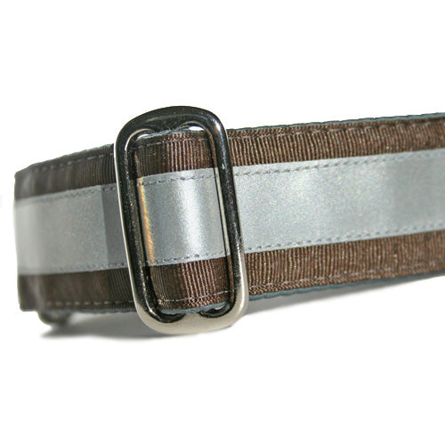 Reflective Chocolate Brown Buckle