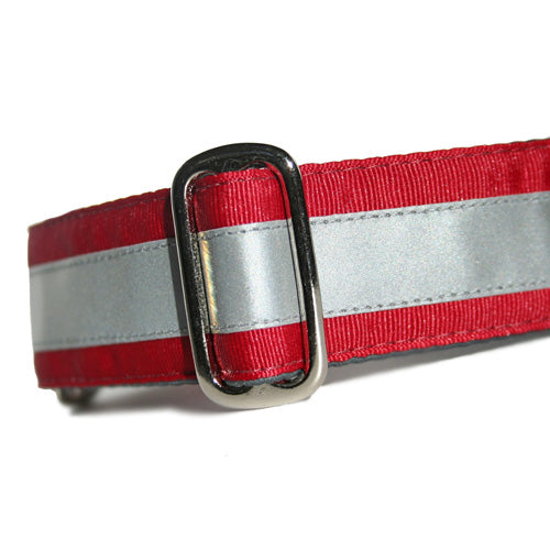 Reflective Cranberry Red Martingale
