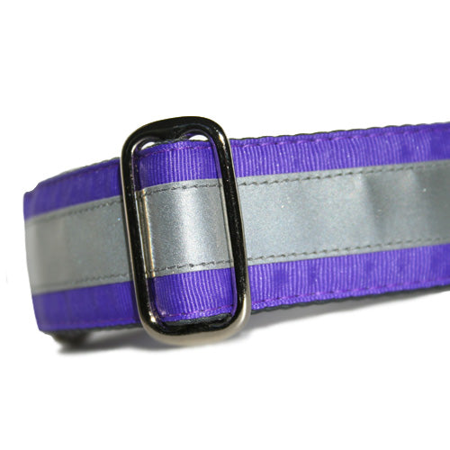 Reflective Grape Purple ID Tag Collar