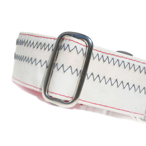 Satin-Lined Sailcloth White Martingale