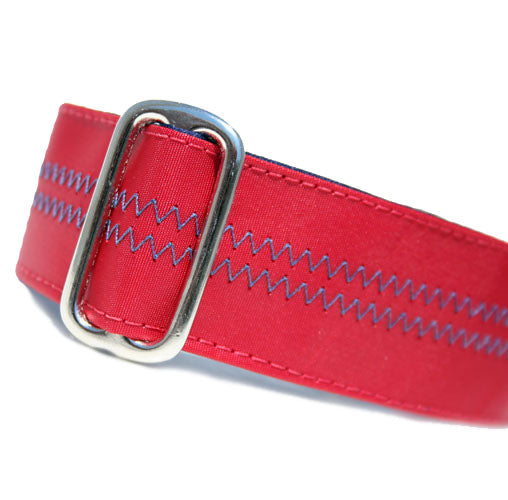 Sailcloth Red ID Tag Collar