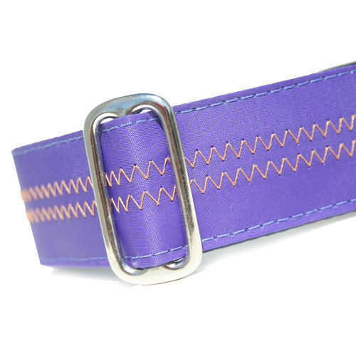 Sailcloth Purple ID Tag Collar