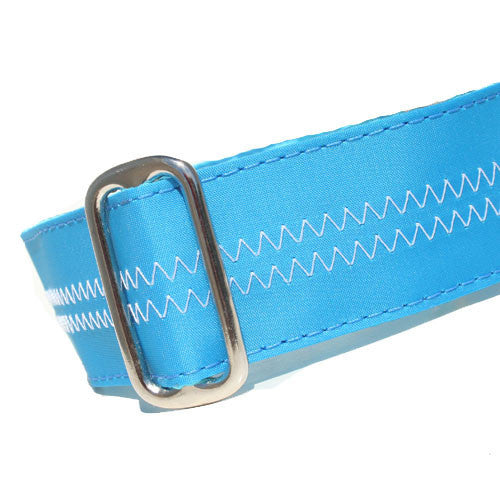 Sailcloth Turquoise ID Tag Collar